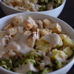 Tahini Tofu Zucchini Bowl