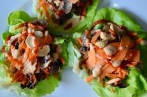 Mushroom Cashew Lettuce Wraps